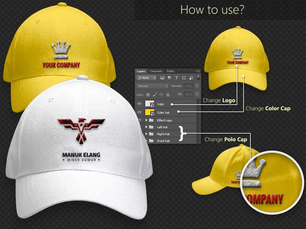 order design Hat mockup