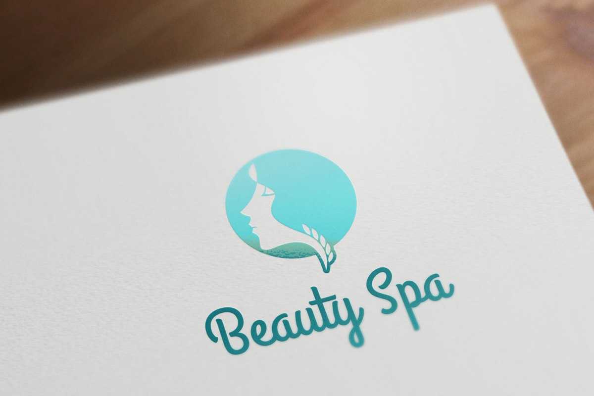 Beauty spa order design logo template